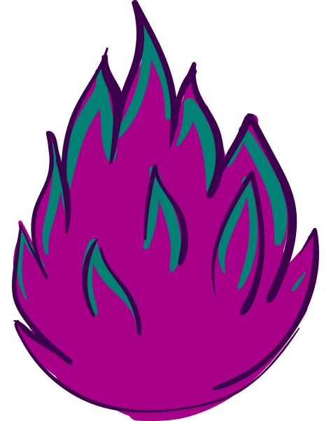 pink fire illustration vector on white