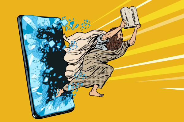 moses the prophet with the tablets