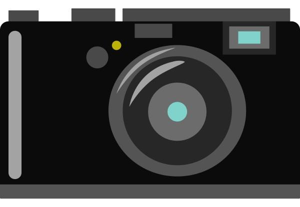 old camera illustration vector on white