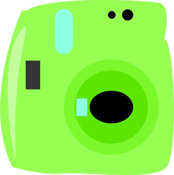 green camera illustration vector on white