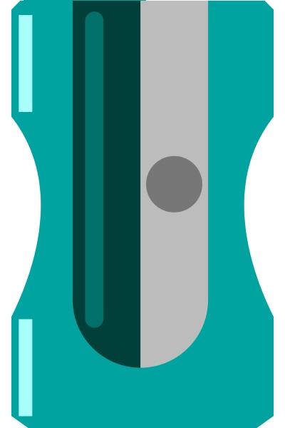blue sharpener illustration vector on white