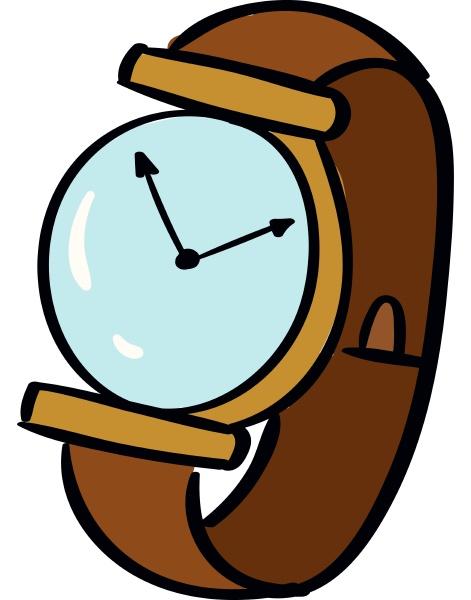 wrist watch illustration vector on white