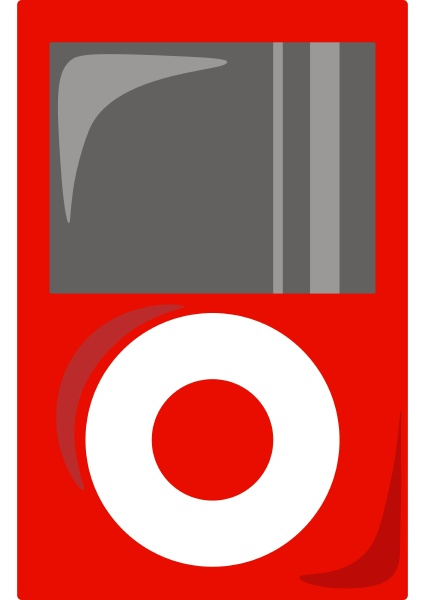 red mp3 player illustration vector on