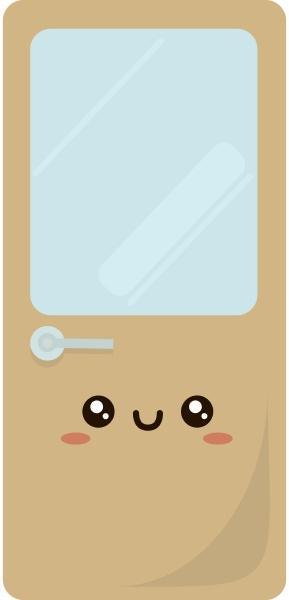 cute door illustration vector