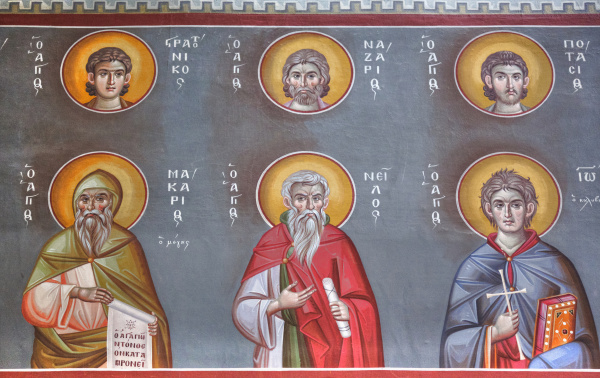 reigious figures on artwork greece