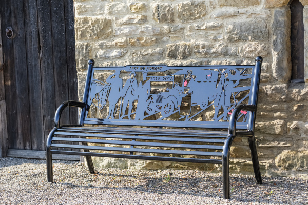 bench as a war memorial 1918