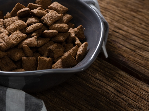 bowl of chocolate toast crunch with