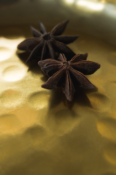 two star anise in plate