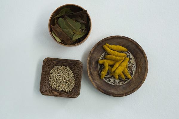 turmeric raw seed bay leaf