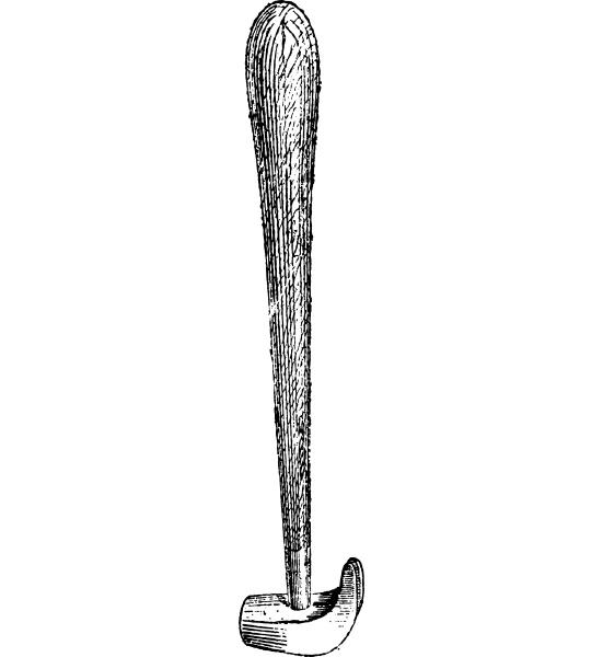 driving hammer vintage engraving