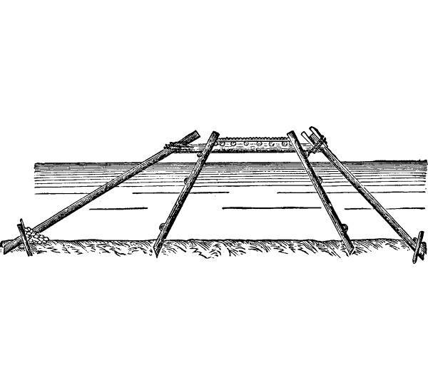 caesar bridge on the rhine vintage
