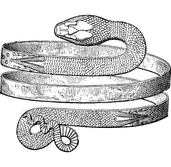 bracelet spiral snake discovered in pompeii