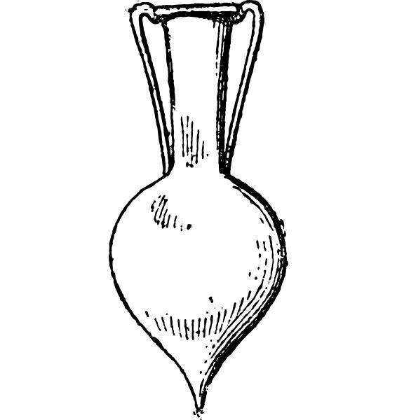 roman glassware vintage engraving