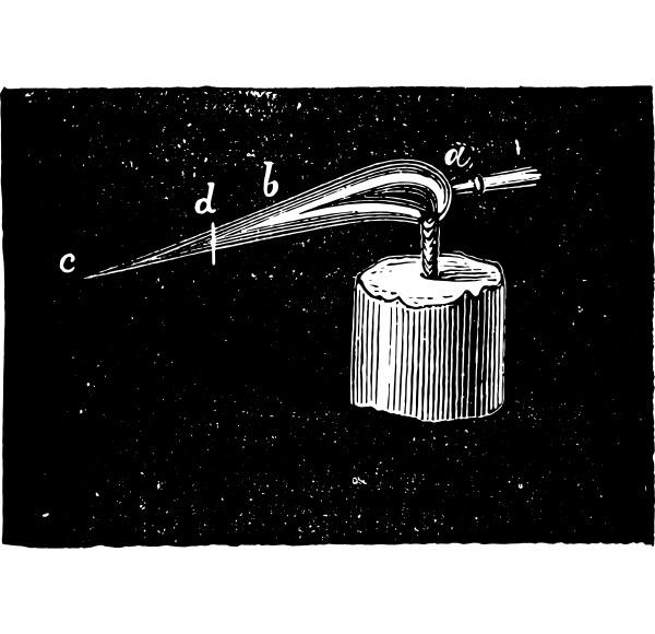 oxidizing flame vintage engraving