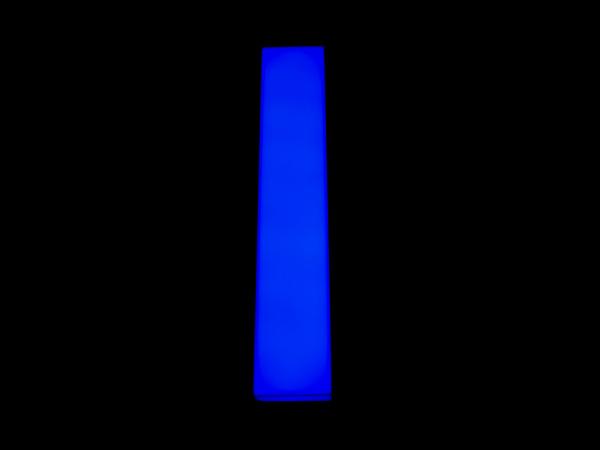blue neon letter i