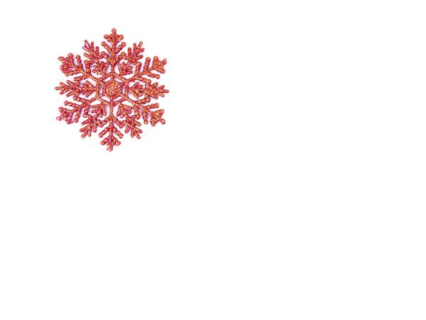 snowflake christmas tree decoration on a