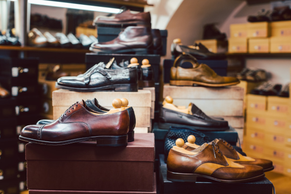 men s shoes waiting for customers