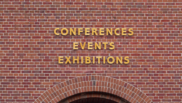 exhibition hall sign