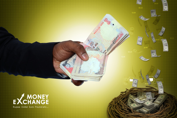 man hand with currency notes