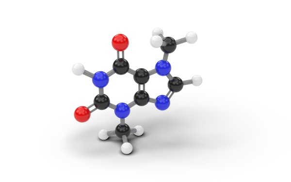 structural model of theobromine molecule