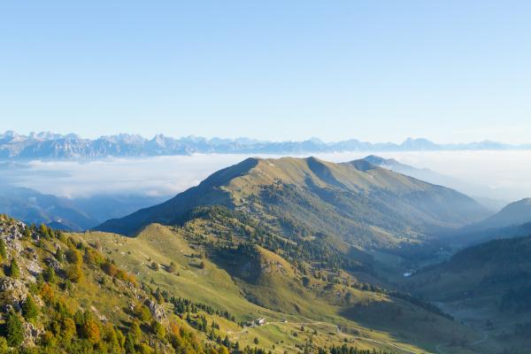 mountain landscape mount grappa panorama italian