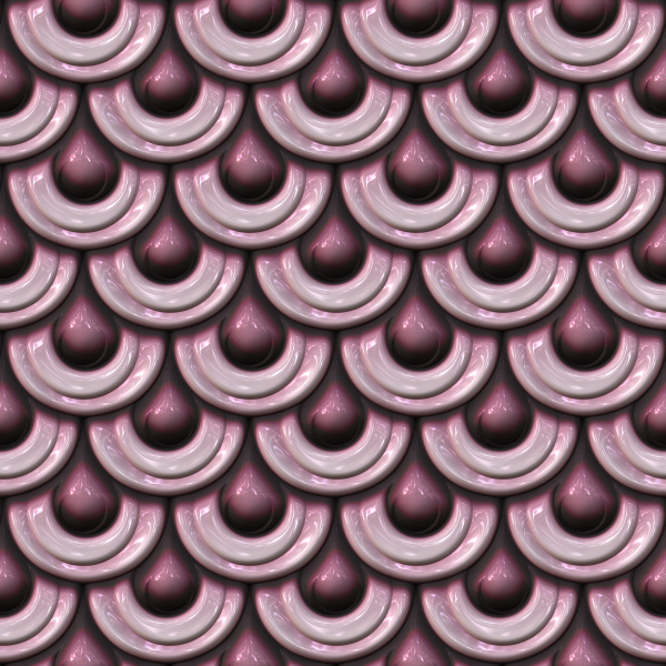 pink mermaid scale seamless pattern in