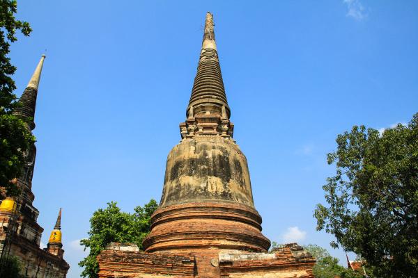 ancient pagoda at wat yai chaimongkol