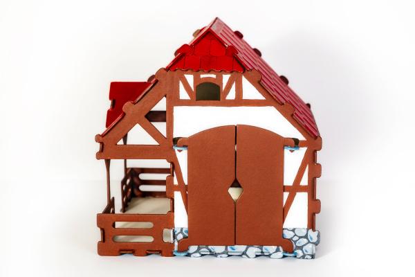 cardboard toy house