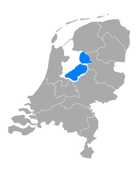 map of flevoland in netherlands