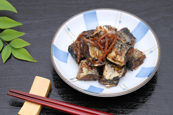 japanese food tsukudani of pike