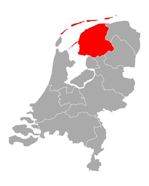 map of friesland in netherlands