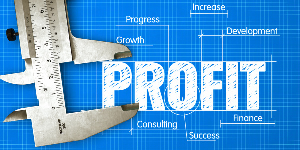 profit measuring business concept with