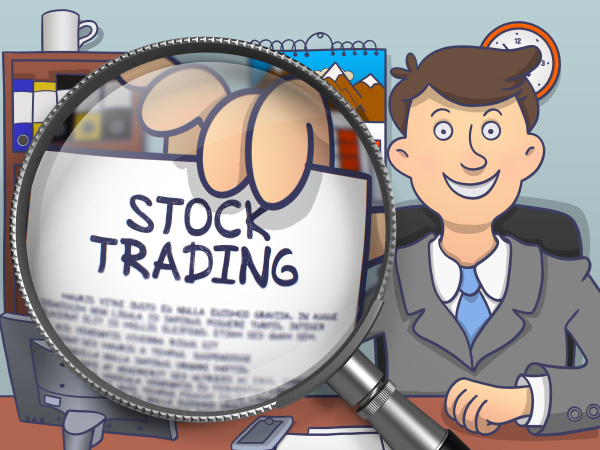 stock trading through magnifying glass