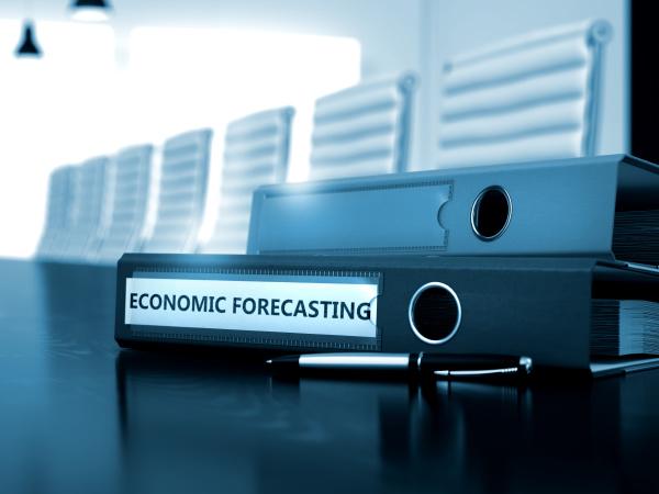 economic forecasting on office folder