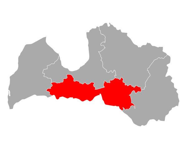 map of zemgale in latvia