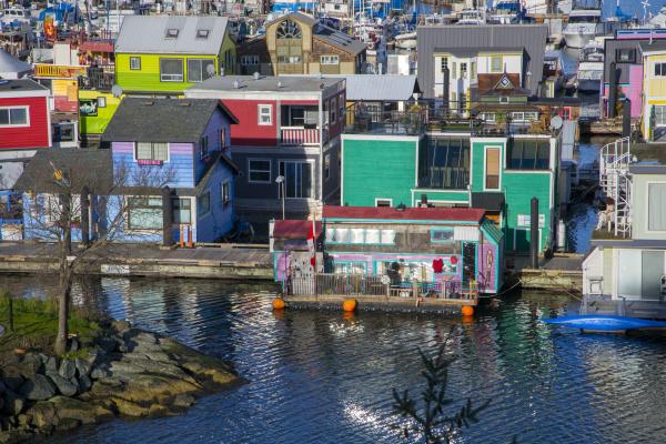 fishermans wharf victoria harbor vancouver island