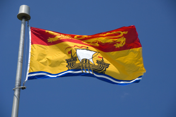 canada new brunswick new brunswick flag