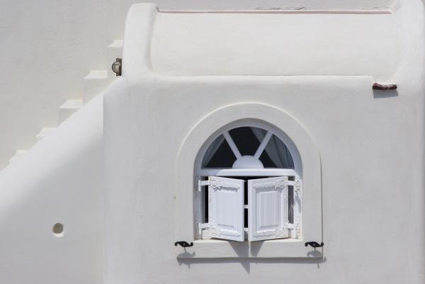 greece santorini thira oia white shuttered