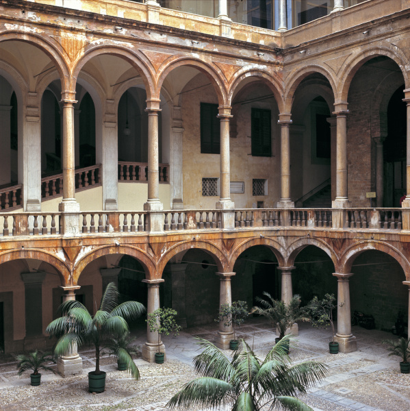 italy sicily palermo the courtyard at