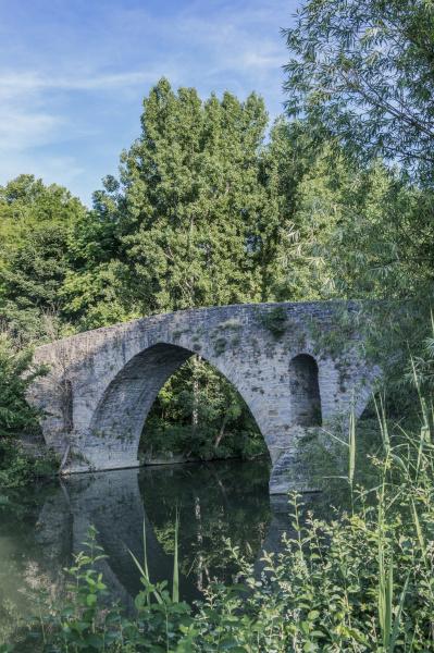 spain pamplona magdalena bridge on the