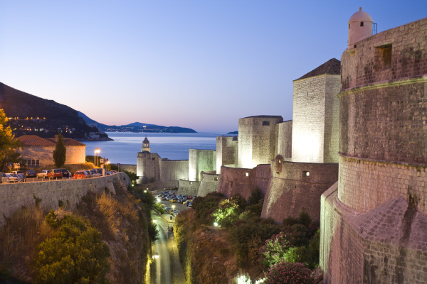 walled city of dubrovnik southeastern tip