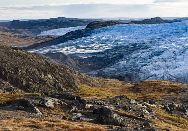 the russell glacier landscape close to
