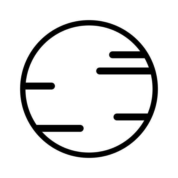 space planet icon outline vector isolated
