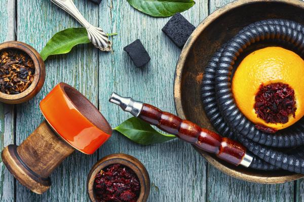 oriental hookah with orange flavor