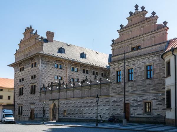 historic square at the hradcany in