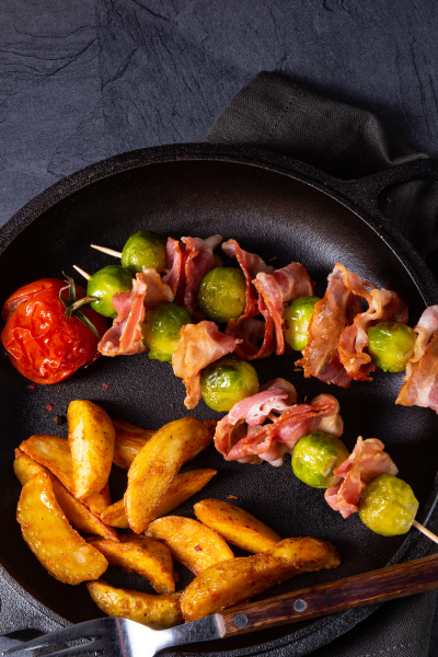 brussels sprouts bacon skewers
