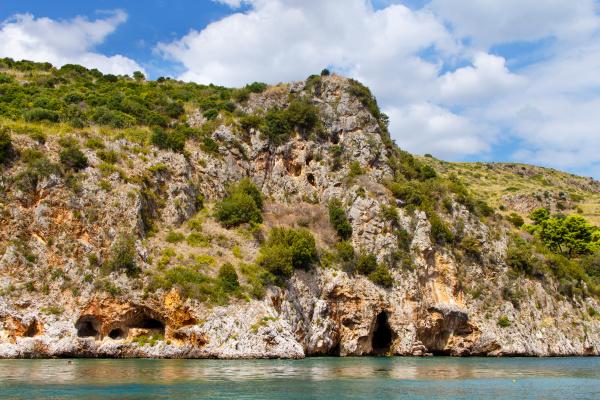 the coast near camerota from the