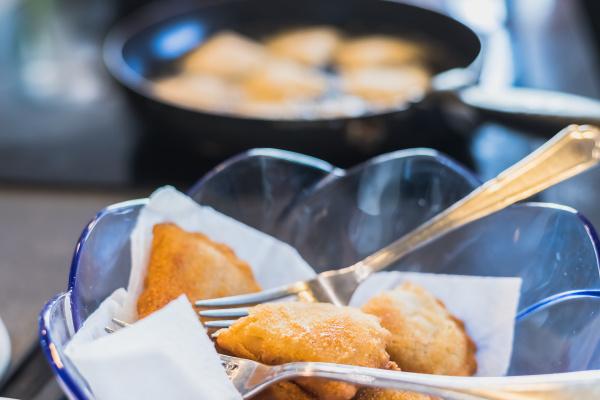 fried portuguese or brazilian rissoles in