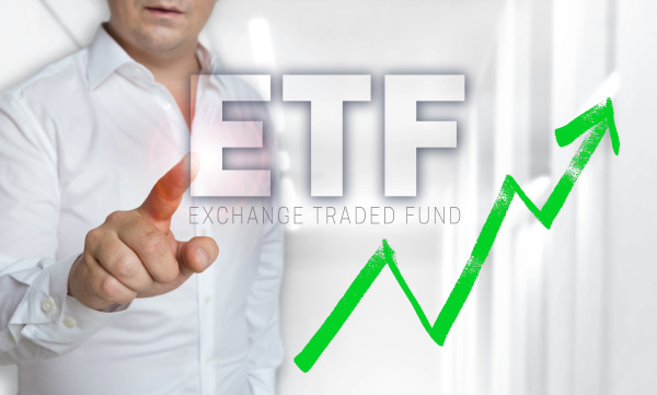 etf touchscreen concept is operated by