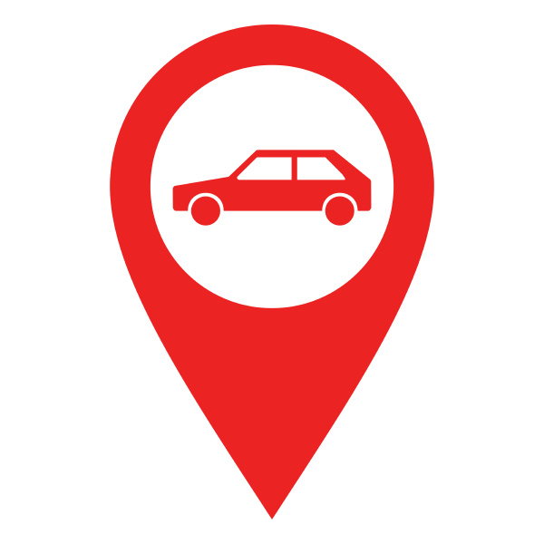 car and location pin